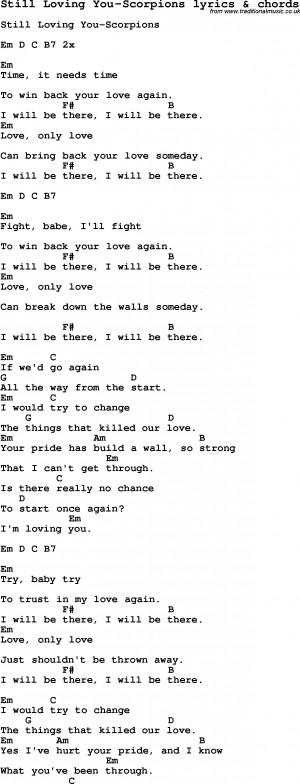 Love Song Lyrics For Still