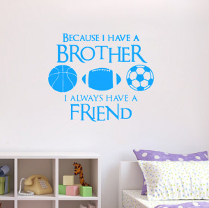 Brothers Friends Kid Sports -Wall Say Quote Word Lettering/picture Art ...