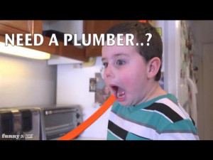 Hilarious Kid Makes funny faces on plumbing commercial | PopScreen