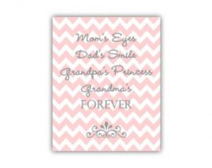 Grandma Art Print for New Grandma Gift or Baby Girl Nursery Wall Quote ...