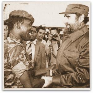 Thomas Sankara meets Fidel Castro.