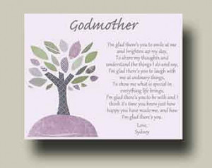 Godmother Gift from Godchild Godmother Keepsake Godmother