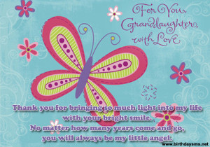 Cute Birthday Wishes for Granddaughter