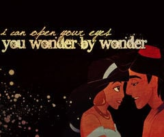 Aladdin Love Quotes Aladdin and jasmine wallpaper