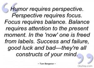 humor requires perspective