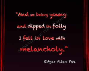 Edgar Allan Poe Goth Quote Art 5x7 Framed Inspirational Print Famous ...
