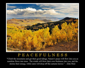 john muir quotes | Peacefulness John Muir Quote | Flickr - Photo ...