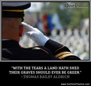 """... hath shed their graces should ever be green."""" -Thomas Bailey Aldrich"""