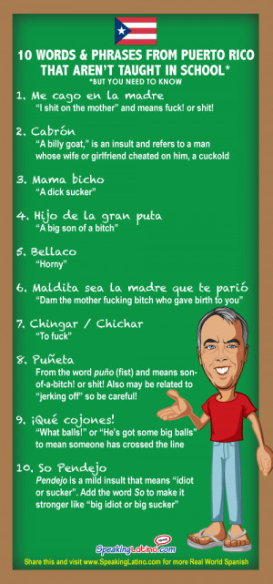 10 Vulgar Spanish Slang Words and Phrases from Puerto Rico ...