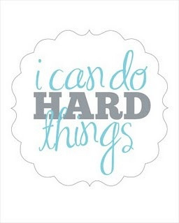 can do hard things! HECK YES I CAN!
