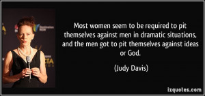 Most women seem to be required to pit themselves against men in ...