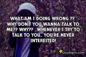 What AM I Doing Wrong Quotes