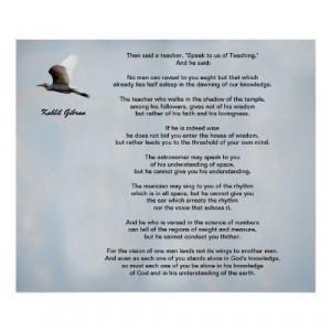 Khalil Gibran Teacher Quotes