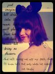 Minnie Mouse Costume - With Quote by WashiOctopus