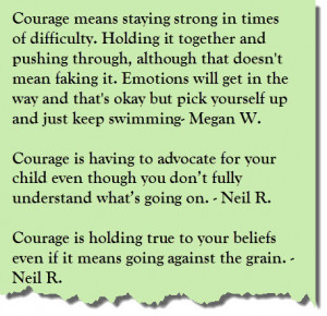 Courage is… (A Collection of Courageous Quotes)