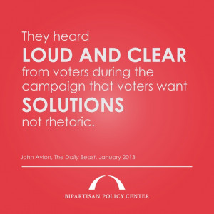 "... wanted solutions, not rhetoric,""John Avlon in The Daily Beast"