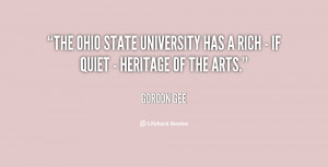 The Ohio State University has a rich - if quiet - heritage of the arts ...