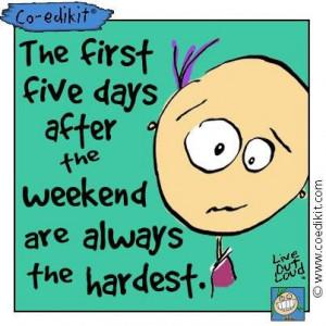 Rough week! #coedikit