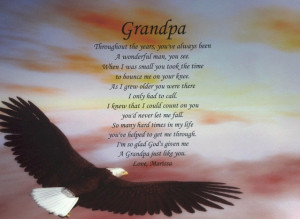 GRANDPA POEM BIRTHDAY, FATHER'S DAY OR CHRISTMAS GIFT PERSONALIZED FOR ...