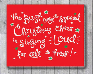 Christmas Ch eer - Red / White / Green - Buddy the Elf Movie Quote ...