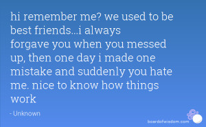 friends we used to be
