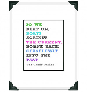 Scott Fitzgerald The Great Gatsby - Final Quote