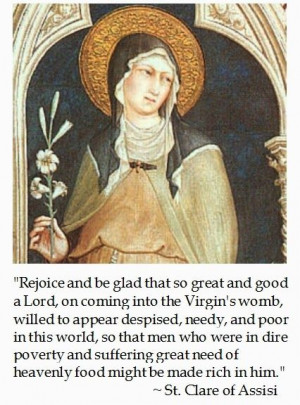 St. Clare of Assisi on Advent