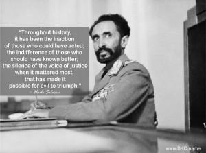 Haile Selassie Quotes Credited