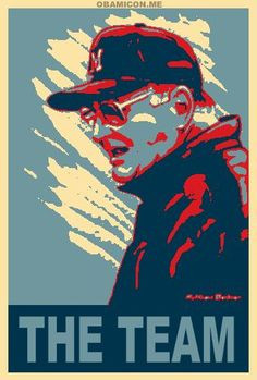Bo Schembechler - The Team....created by me via Obamicon.Me (site is ...
