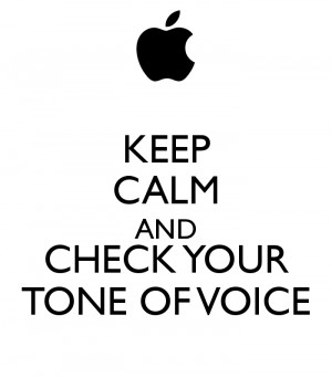Tone Of Voice Check your tone of voice