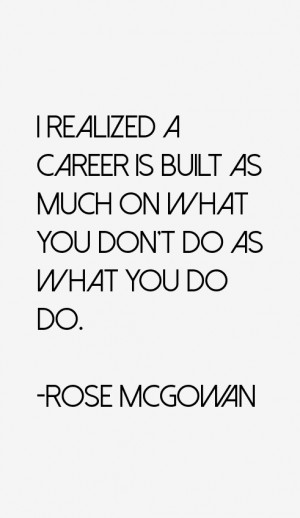 Rose McGowan Quotes & Sayings