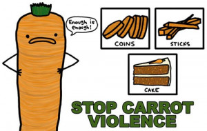 carrot, funny, lol, vegetable, violence