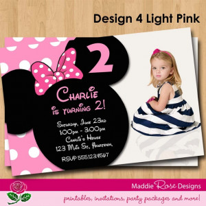 Minnie Mouse Birthday Invitation Printable by MaddieRoseDesignz ...