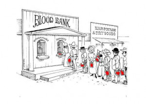This is how blood donations should be more deposits than withdrawals ...