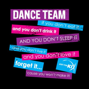Dance Team Saying