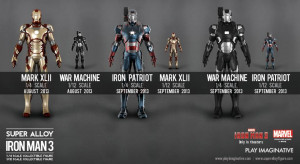 Iron Man 3 Super Alloy Figures From Play Imaginative