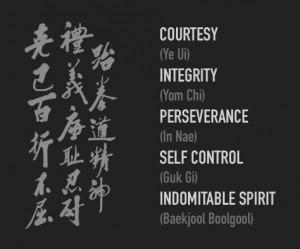 Tenets of Team Taekwondo