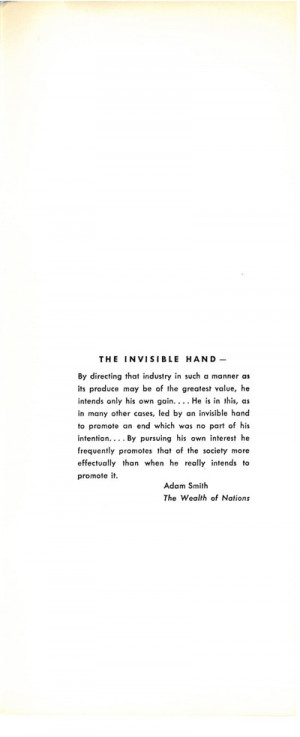 quote from Adam Smith about The Invisible Hand - Page 11