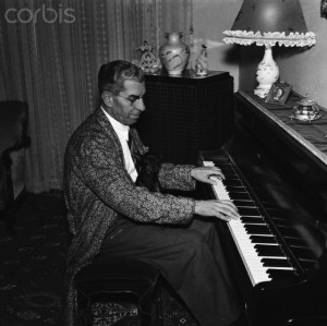 Lucky Luciano Playing Piano with Pet Dog
