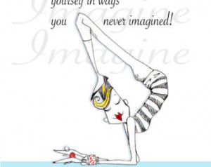 Yoga quote Humor 5x7 Print by Colle neKennedy ...