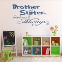 Brother and sister quote vinyl wall art sticker transfer decal decor ...