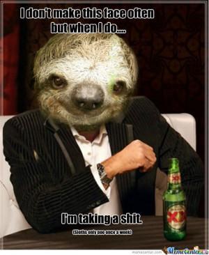 Dos Equis Sloth