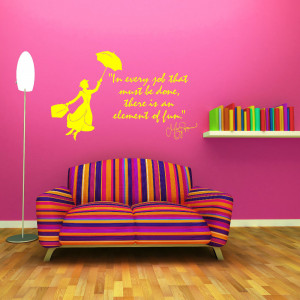 MARY POPPINS Julie Andrews In Every Job That VINYL WALL ART QUOTE ...