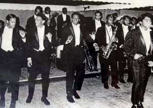 The original James Brown and the Famous Flames perform in the early