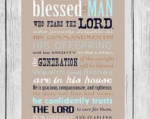 Bible Verse, Father's Day, Scri pture art, Psalm 112, Psalms Print ...