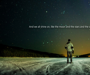 ice outer space lights stars quotes john lennon beetles 1920x1080 ...