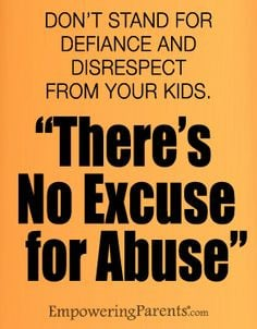 Don't stand for defiance and disrespect from your kids.