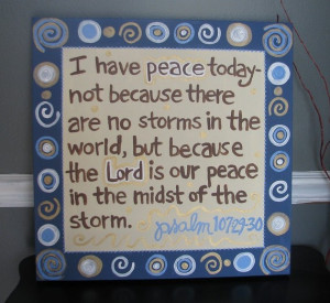 bible verse canvas art - peace in the storm