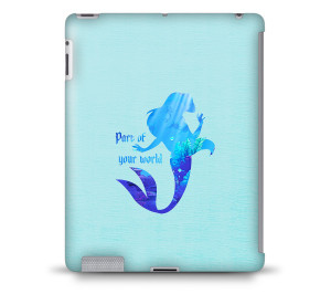 Disney Princess Ariel Little Mermaid Quote Tablet Hard Shell Case for ...