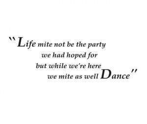 Life Party Dance Wall Stickers